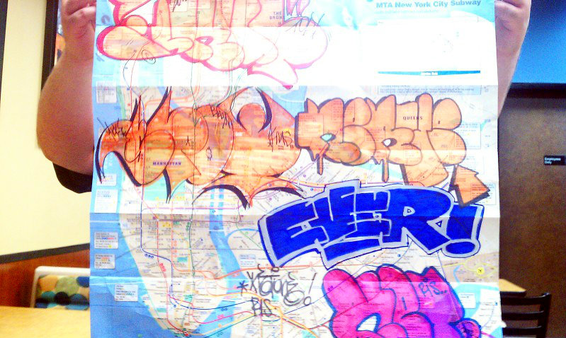 GRAFFITI:  SKUF · SPOT YKK KMS · NERVE · EVER · KET RIS
