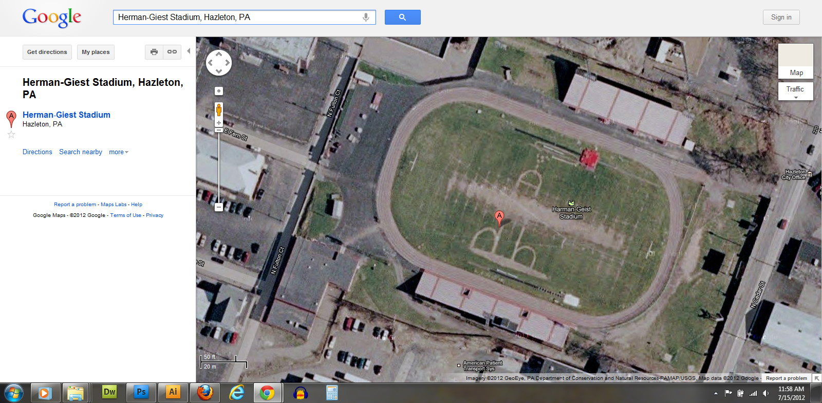 Harman-Geist Stadium, Hazeton, PA (ROTFL)