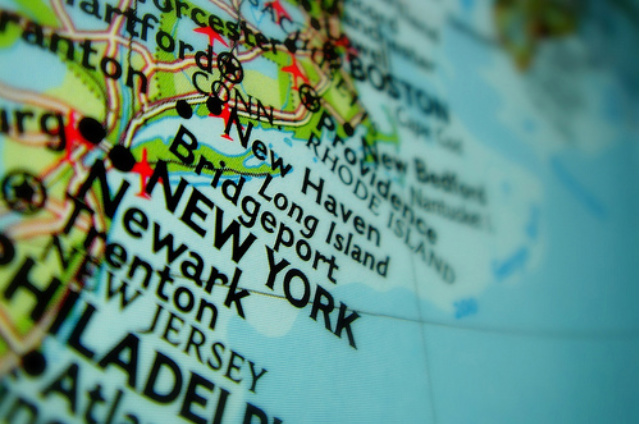 Image:  Map of New York City - Tri-State Area - Northeast US